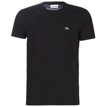 textil Hombre Camisetas manga corta Lacoste TH6709 Negro