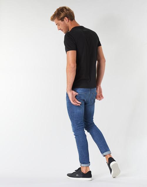 Hombre Manga Camisetas Negro Textil Corta Th6709 Lacoste wk8n0PO