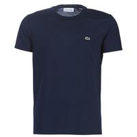 textil Hombre Camisetas manga corta Lacoste TH6709 Marino