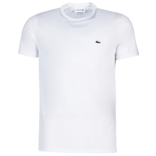 textil Hombre Camisetas manga corta Lacoste TH6709 Blanco