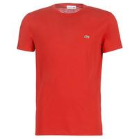 textil Hombre camisetas manga corta Lacoste TH6709 Rojo