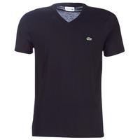 textil Hombre Camisetas manga corta Lacoste TH6710 Negro