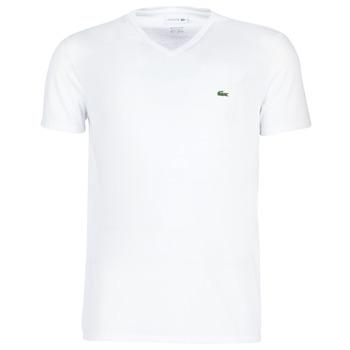 textil Hombre Camisetas manga corta Lacoste TH6710 Blanco