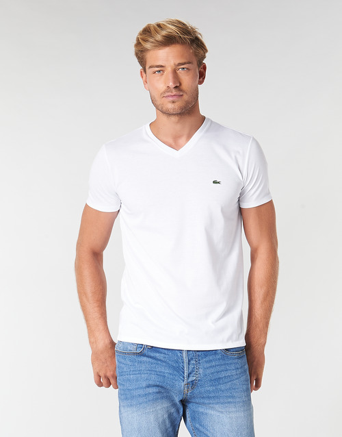 Blanco Textil Hombre Camisetas Lacoste Th6710 Manga Corta 54A3LqRj
