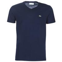 textil Hombre Camisetas manga corta Lacoste TH6710 Marino