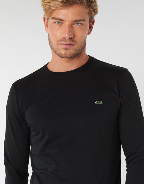 Camisetas Hombre Textil Manga Negro Lacoste Larga Th6712 HYEDW92I