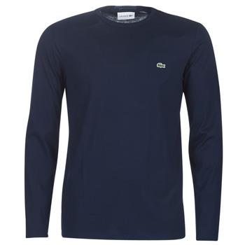 textil Hombre Camisetas manga larga Lacoste TH6712 Marino