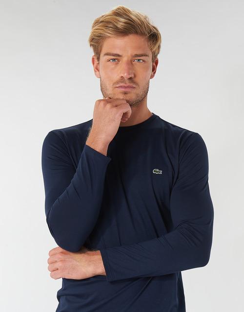 Textil Larga Lacoste Camisetas Th6712 Hombre Marino Manga EH9IDe2YW