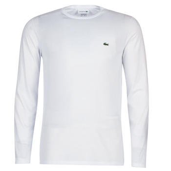 textil Hombre Camisetas manga larga Lacoste TH6712 Blanco