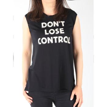 textil Mujer Camisetas sin mangas Lee T-shirt  Muscle Tank Black L42CPB01 negro
