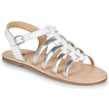 Zapatos Niña Sandalias Citrouille et Compagnie MAYANA Blanco / Plateado