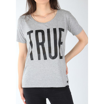 textil Mujer Camisetas manga corta Lee T-shirt  Ultimate Tee L42JEP37 gris