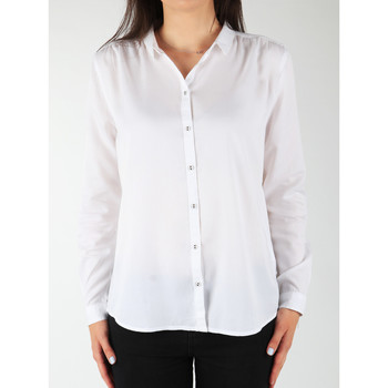 textil Mujer Camisas Wrangler L/S Relaxed Shirt W5190BD12 blanco