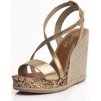 Zapatos Mujer Alpargatas Mtbali Sandalia Alpargata con cuña, Mujer - Modelo Calpe oro