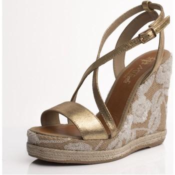 Zapatos Mujer Sandalias Mtbali Sandalia Alpargata con cuña, Mujer - Modelo Alicante oro