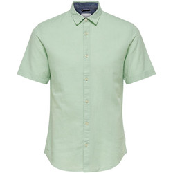 textil Hombre Camisas manga corta Only & Sons  22009885 Verde