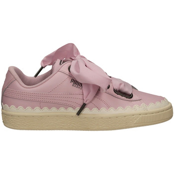 Zapatos Mujer Zapatillas bajas Puma BASKET HEART SCALLOP orchi-viola