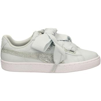 Zapatos Mujer Zapatillas bajas Puma BASKET HEART CANVAS blasi-verde-tiffany