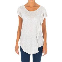 textil Mujer túnicas Met Camiseta manga corta Gris