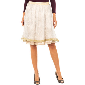 textil Mujer Faldas La Martina Falda Beige