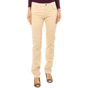 textil Mujer pantalones con 5 bolsillos La Martina Pantalón Stretch Beige