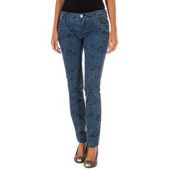 textil Mujer pantalones con 5 bolsillos Met Pantalon Tejano Largo Azul oscuro