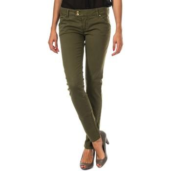 textil Mujer pantalones con 5 bolsillos Met Pantalon Largo Caqui