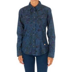 textil Mujer Camisas Met Camisa Tejana Manga Larga Azul