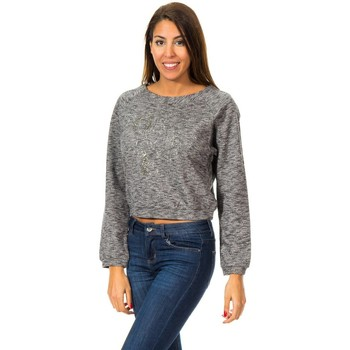 textil Mujer Sudaderas Met Sudadera M/Larga con Gorro Gris