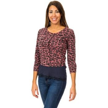 textil Mujer Chaquetas de punto Met Bolero Efecto Cazadora Multicolor