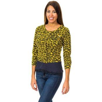 textil Mujer Chaquetas de punto Met Bolero Efecto Cazadora Amarillo
