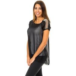 textil Mujer Tops / Blusas Met Blusa de Manga Corta Negro