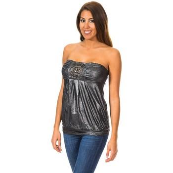 textil Mujer Tops / Blusas Met Camiseta sin Mangas Top Negro
