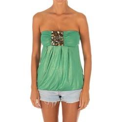 textil Mujer Tops / Blusas Met Camiseta sin Mangas Top Verde
