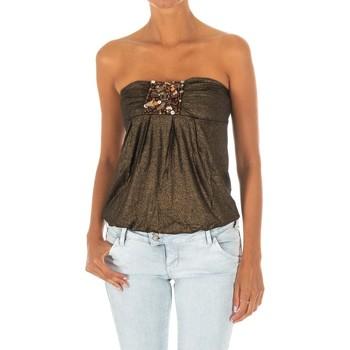 textil Mujer Tops / Blusas Met Camiseta sin Mangas Top Ocre brillante