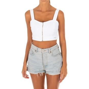 textil Mujer Tops / Blusas Met Top Tejano Blanco