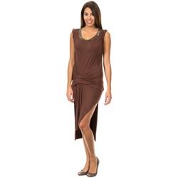textil Mujer vestidos cortos Met Vestido de Tirantes Anchos Marrón