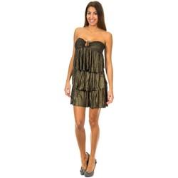 textil Mujer vestidos cortos Met Vestido con Volantes Negro