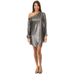 textil Mujer vestidos cortos Met Vestido manga larga Gris