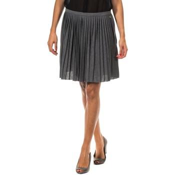 textil Mujer Faldas Met Falda Plisada Gris