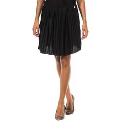 textil Mujer Faldas Met Falda Plisada Negro