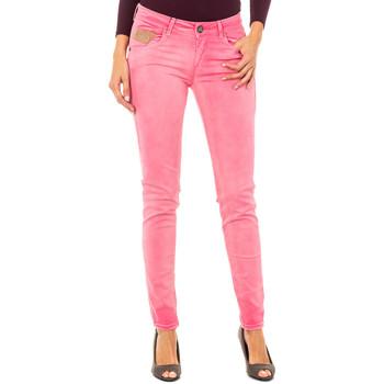 textil Mujer pantalones con 5 bolsillos La Martina Pantalón elástico Rosa