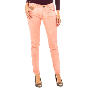 textil Mujer pantalones con 5 bolsillos La Martina Pantalón elástico Naranja