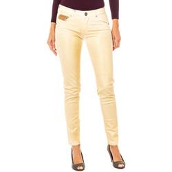 textil Mujer pantalones con 5 bolsillos La Martina Pantalón elástico Dorado