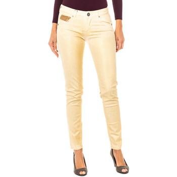 textil Mujer pantalones con 5 bolsillos La Martina Pantalón elástico Oro