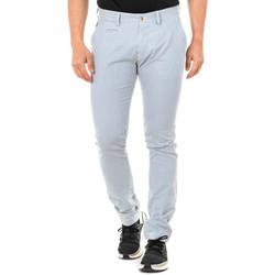 textil Hombre pantalones con 5 bolsillos La Martina Pantalón Azul-blanco