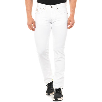 textil Hombre pantalones con 5 bolsillos La Martina Pantalón tejano Blanco
