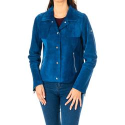 textil Mujer Chaquetas / Americana La Martina Chaqueta m/larga de Piel Azul