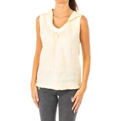 textil Mujer camisetas sin mangas La Martina Camiseta sin mangas Amarillo