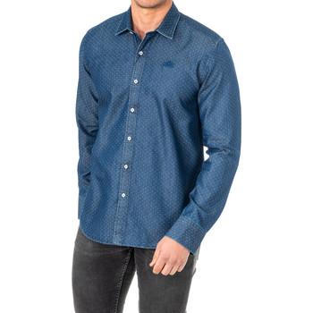 textil Hombre Camisas manga larga La Martina Camisa M/Larga Azul